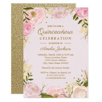 Sparkle Floral Gold Pink