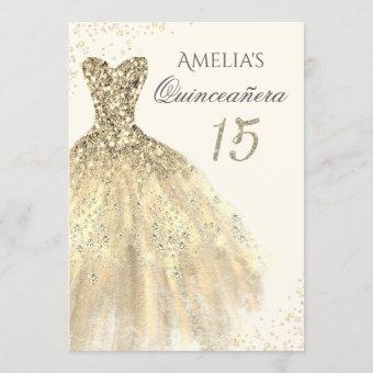 Sparkle Gold Dress 15th