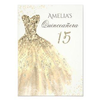 Sparkle Gold Dress 15th
