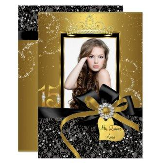 Sparkle Gold Lace & Bow Photo