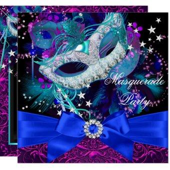 Sparkle Mask & Bow Masquerade Party