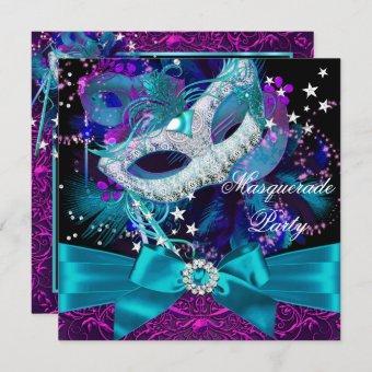 Sparkle Mask & Bow Masquerade Party