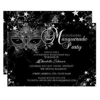 Sparkle Mask Star Night Masquerade Quinceañera