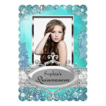 Sparkle Ocean Jewel Photo Invite