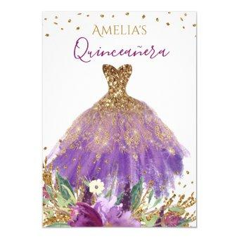 Sparkling Amethyst Dress Invite