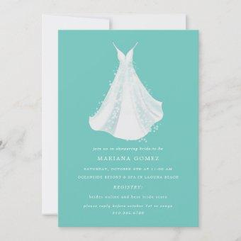 Sparkling Dress Quince Bridal Shower Mint Blue