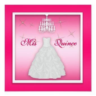 Sparkling Invite Hot Pink White