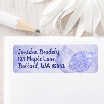 Sparkly Blue Return Address Label