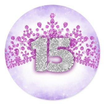 Sparkly Purple & Pink Tiara Sticker