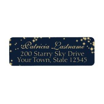 Starry Midnight Sky Return Address Label