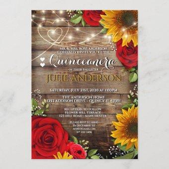 Sunflower and Rose Rustic