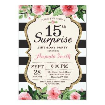 Surprise 15th Birthday Floral