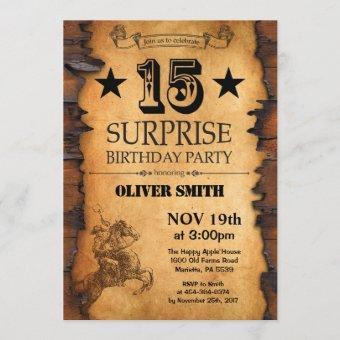 Surprise 15th Western Birthday