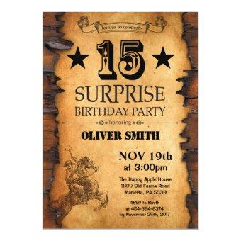 Surprise 15th Western Birthday