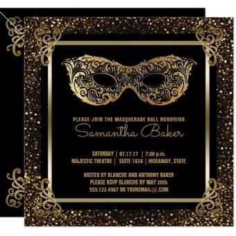 Sweet 16 Masquerade Party | Sweet Sixteen Gold