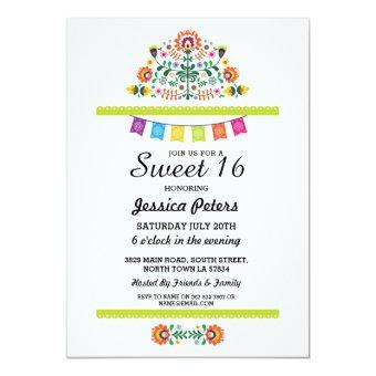 Sweet 16 Party Floral Fiesta Mexican Birthday