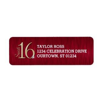 Sweet 16 Personalized Address Labels