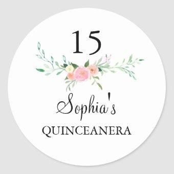 Sweet Watercolor Floral Pink Sticker