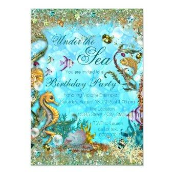 Teal Blue Under the Sea Birthday Party