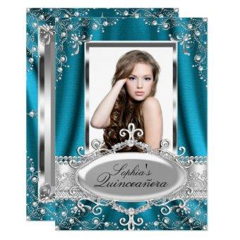 Teal Pearl Silk Vintage Glamour
