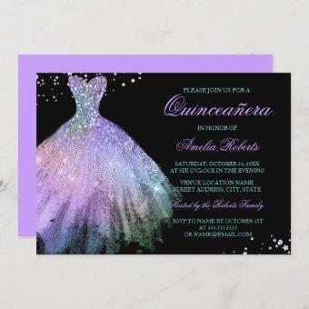 Teal Purple Sparkle Dress