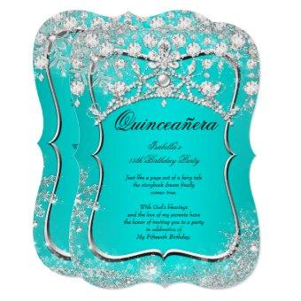 Teal 15th Winter Wonderland Silver