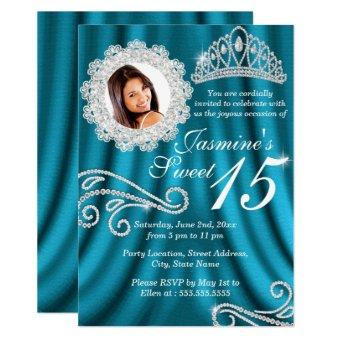 Teal Silver Diamond Tiara Photo