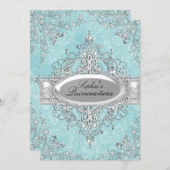 Teal & Silver Pearl Vintage Glamour