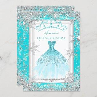 Teal Silver Winter Wonderland Party