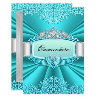Teal Tiara Damask