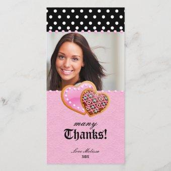Thank You Dots Lace Heart Cookies Sweet 16