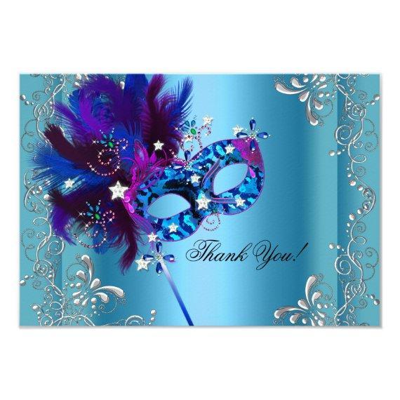 Thank You Party Masquerade Blue