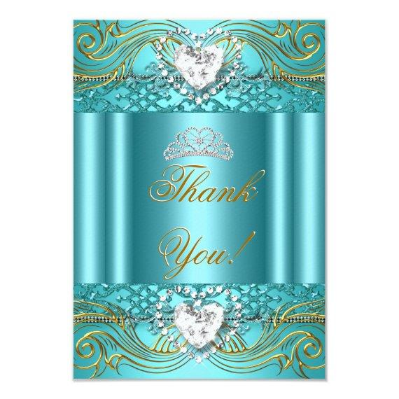 Thank You Teal Blue Gold