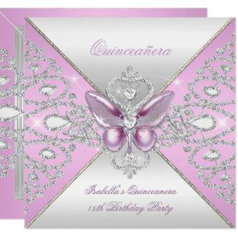 Tiara Pink Butterfly 15th Party