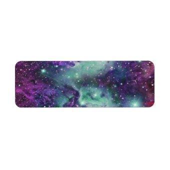 Trendy Cool Sparkly New Nebula Design Label