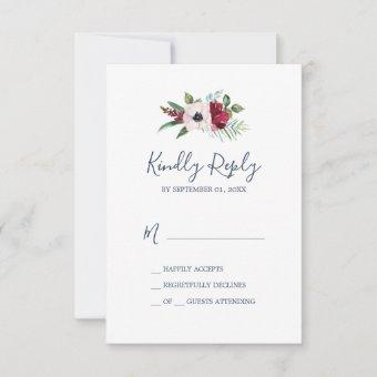 Tropical Breeze Simple RSVP Card