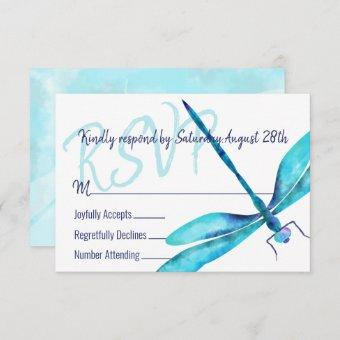 Turquoise Dragonfly RSVP Enclosure