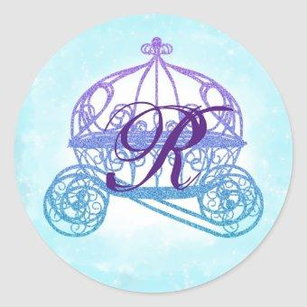 Turquoise Princess Carriage Stickers