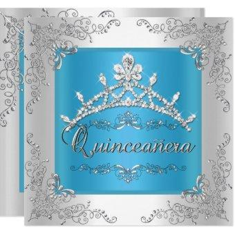 Turquoise 15th Birthday Silver Tiara
