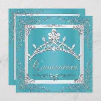 Turquoise Silver Tiara 15th Birthday