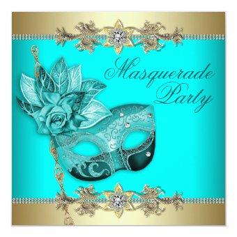 Turquoise Teal Blue Masquerade Party
