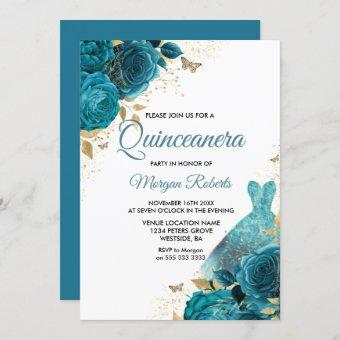 Turquoise Teal Sparkle Dress Party