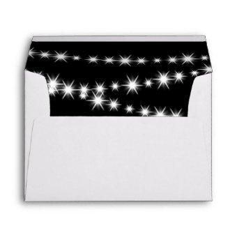 Twinkle Lights Envelope (black)