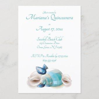 Under the Sea Party Teal Seashells