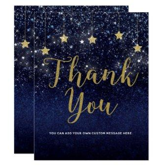 Under The Stars Starry Night Gold Blue Thank You