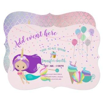 Unicorn Mermaid Princess Birthday