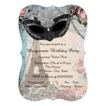 Vintage Paris Masquerade Party