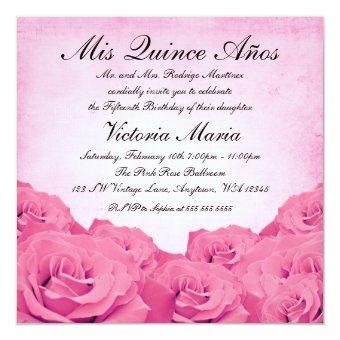 Vintage Pink Rose Birthday Party