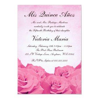 Vintage Pink Rose Birthday Party