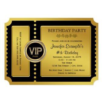 VIP Golden Ticket Birthday Party